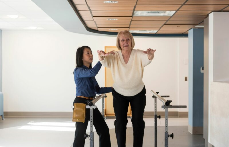 Bruyère Geriatric Day Hospital staff member works with a patient