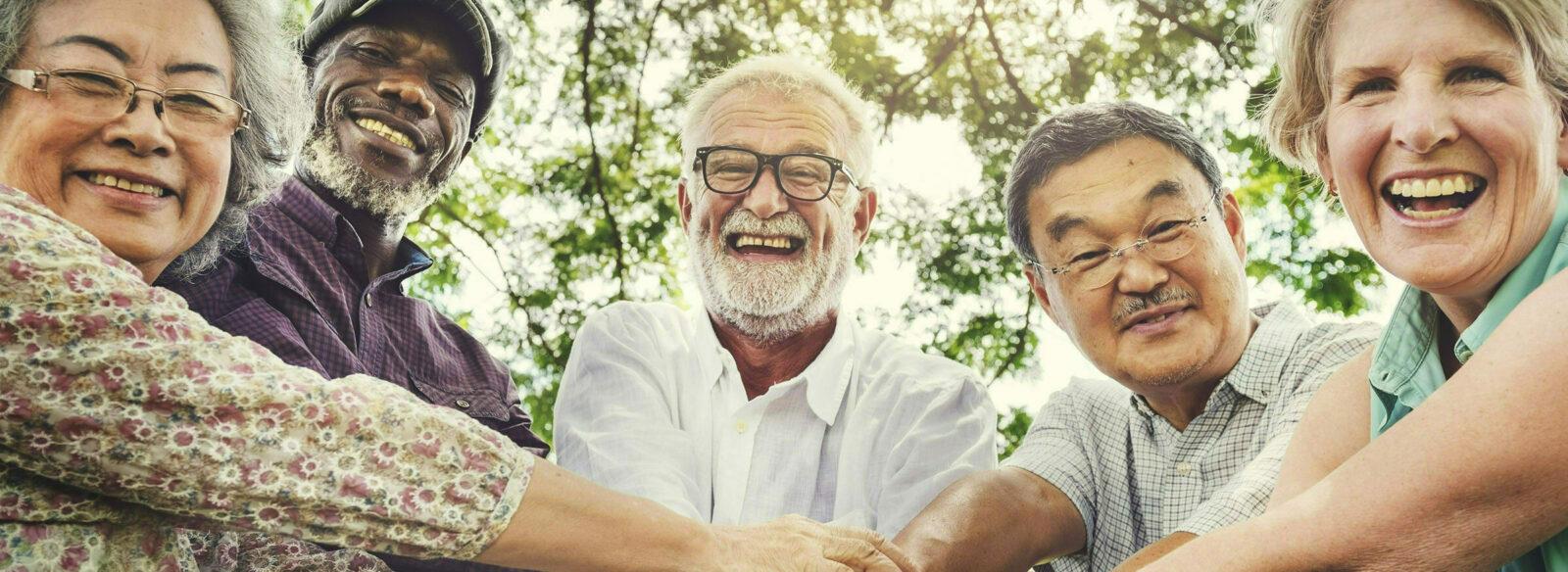 Group of Happy Smiling Seniors