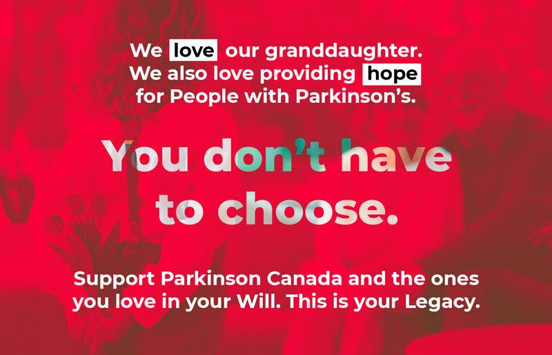 Soutenez Parkinson Canada et ceux que vous aimez dans votre testament