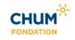 Logo Fondation du CHUM bleu et jaune